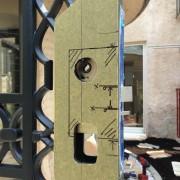 高級アルミ・鋳物・門扉~電気錠の特殊加工~